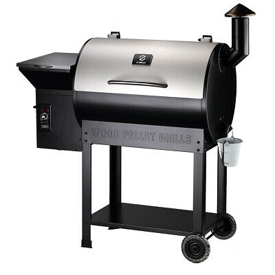 Z GRILLS Pellet Grill and Outdoor Smoker New Model with Stainless Steel Lid