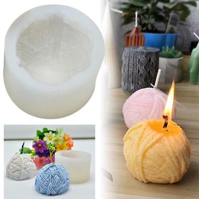 3D Yarn Ball Round Candle Mold Soap Mould Flexible Silicone Handmade Mold DIY
