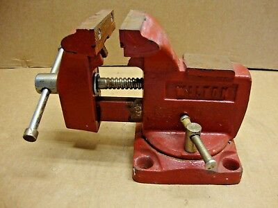"Vintage Wilton Swivel Bench Vise w/ 3.5"" Jaws Pipe Jaws Anvil NICE CONDITION"