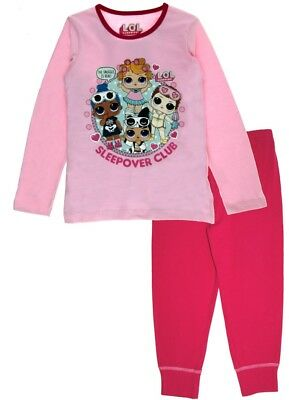 LOL Surprise Dolls Girls Long Pyjamas Kids 2 Piece Character Nightwear PJs Size
