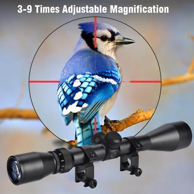 Durable 3-9X Bushnell Hunting Riflescope Tactics Optics Scope with Mount Set ZG