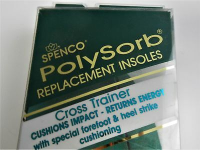Spenco Polysorb Replacement Insoles Cross Trainer #4 Men's Size 10-11*NEW*