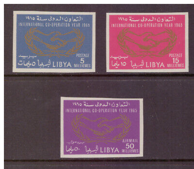 Libya MNH 1965 International Cooperation Year  set imperf. mint stamps