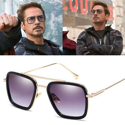 Marvel Tony Stark Men Sunglasses Flight 006 Fashion Avengers Iron Man Glasses Uk