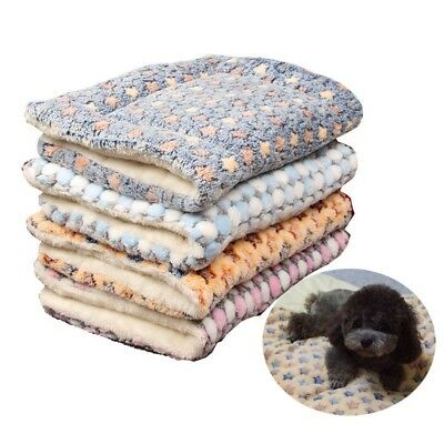 Pet Blanket Warm Coral Flannel Puppy Dog Cushion Cover Soft Cat Sleeping Bed Pad