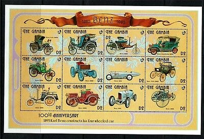 Gambia 1993 Henry Ford & Karl Benz SG 1534/57 MNH