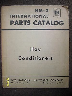 HTF Vintage IH International Harvester HM-3 Hay Conditioners Parts Catalog