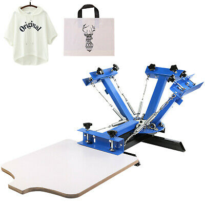 4 Color 1 Station Silk Screen Printing Machine Printer Cutting Carousel