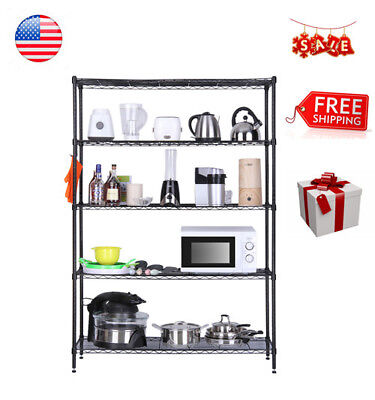 441LBS 5TIER HEAVY Duty Extra Large Garage Kitchen Wire ...