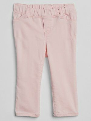 NWT BABY GAP GIRLS PANTS JEANS FANTASTIFLEX PINK DENIM Jegging Crop  u pick size