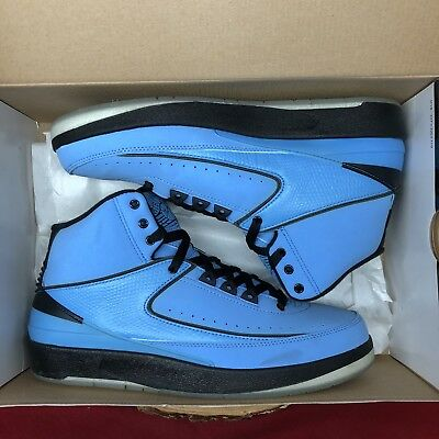 2010 Nike Air Jordan II 2 Retro QF UNIVERSITY BLUE BLACK WHITE 395709-401 SZ 8.5