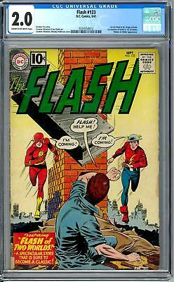 Flash #123 CGC 2.0 (C-OW) Flash of Two Worlds