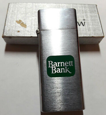 BARNETT BANK Vintage Lighter - Barlow B17 Tallboy Japan