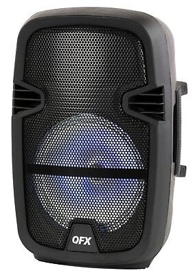 "QFX Pbx-bf15 15"" Rechargeable Party Speaker Bluetooth Usb/tf/fm RGB Disco Light"