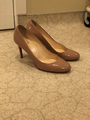 4f53ef0a34d CHRISTIAN LOUBOUTIN WOMEN'S Size 39.5 85mm Simple Pump Calf Nude