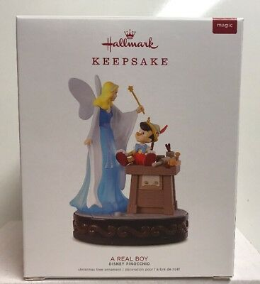 2018 Hallmark Keepsake Magic Light & Sound Disney Pinocchio A Real Boy Ornament