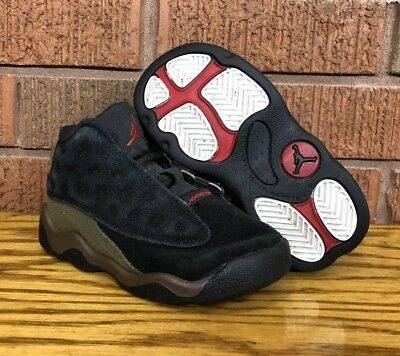 18f051804383 NIKE TODDLERS  JORDAN 13 Retro (TD) Shoes NEW AUTHENTIC Black 414581 ...