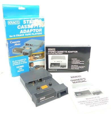 KRACO 8 Track Stereo Cassette Adapter KCA-7B for Home or Auto Vintage