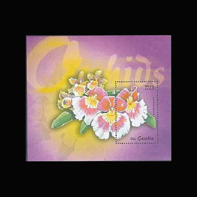 Gambia, Sc #2587, MNH, 2001, S/S, Orchids, Flora, Flowers, Fauna, 1118