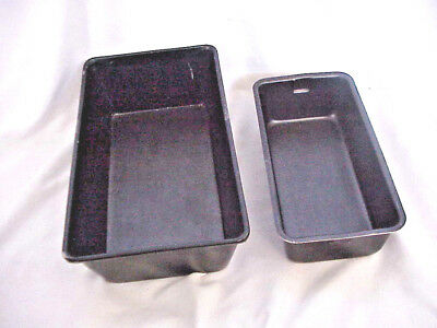 """Mirro Loaf Pans Lot Of 2   7 1/2"""" X 3  3/4"""" X 2 1/4""""and   9 1/4"""" X 5 1/4  X 2 3/"""