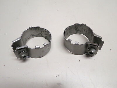 75-77 Honda GL1000 Goldwing OEM Muffler Clamps Header Clamp Set