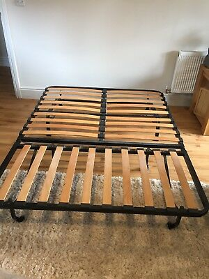 Ikea Grey Sofa Bed Sofabed Futon Mattress Double Metal Frame