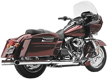 Cobra HD Harley Davidson 3-inch Slip-on Exhaust Mufflers Chrome 6020 63-1013