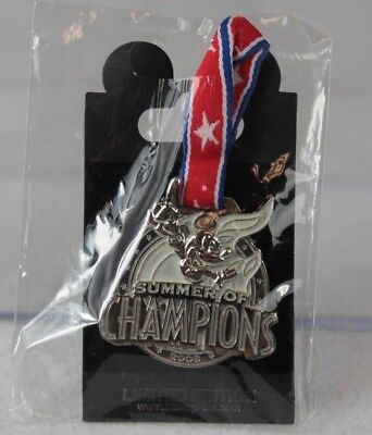 Disney Parks Pin LE 750 Summer of Champions Silver Medal Mickey Mouse