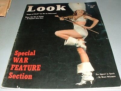 LOOK Magazine, Oct 24, 1939, Special WWII Feature, Al Capone, FDR, Divorce women