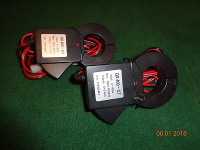 Lot of 2 TED Pro Current Transformers QX 400-CT