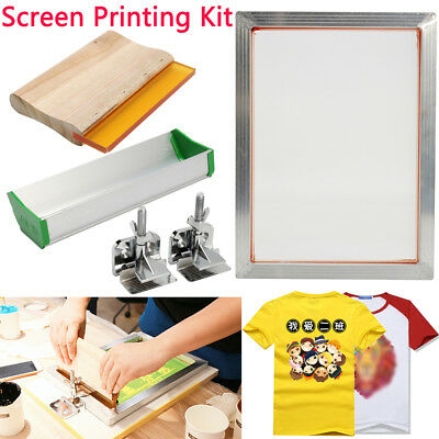 5Pcs/Set Screen Printing Kit Hinge Clamp Emulsion Scoop Coater Squeegee Parts