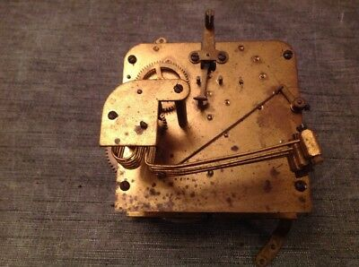 Antique Clock Movement Westminster Chime German 13x11cm Spare Parts
