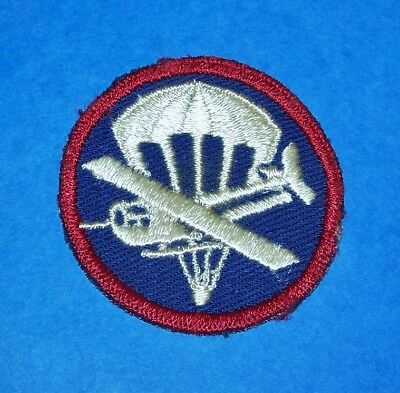 Original Cut-Edge Twill Ww2 Airborne Paratrooper Glider Em Cap Patch