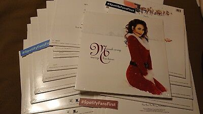 New Mariah Carey Merry Christmas Deluxe Edition Snowflake White Vinyl LP Spotify