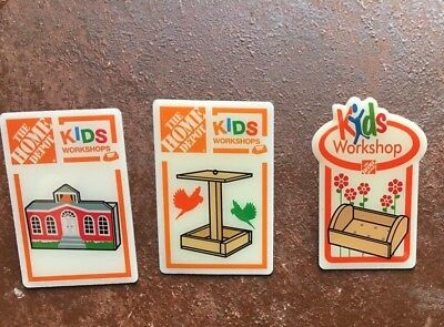 Home Depot Kids Workshop collectible Pins - Choose 1 or all 3