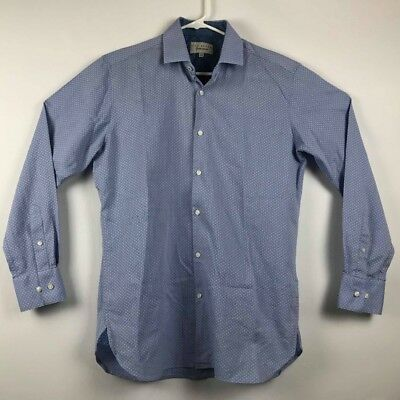 3858147ac374 Ted Baker Mens Endurance Blue Longsleeve Button Up Shirt Size 15 1 2 x 32