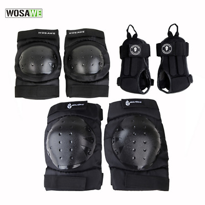 6PCS Sports Protective Gear Set Safety Pad Knee / Elbow / Wrist Support Pad NEW