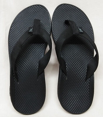61006b1b53ad MINT CHACO Size 9 Wide US Women s Flip Ecotread Black Thong Flip Flops  Sandals