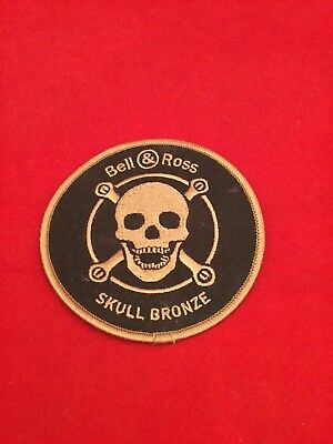 BELL & ROSS - AUTHENTIC BRONZE SKULL PATCH - For Collectors