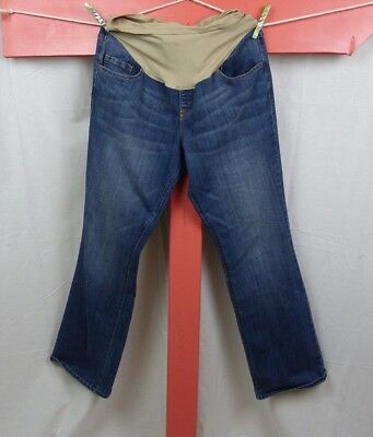 Old Navy MATERNITY Women's Size 14 Boot Cut Jeans Smooth Full Belly Panel Denim