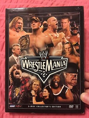 WWE Wrestlemania 22 3 Disc Collector's Edition