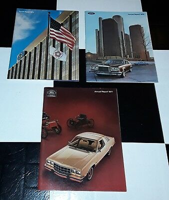 Vintage 1975 1976 1977 Ford Motor Company Annual Report Brochures