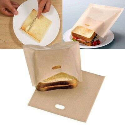 2Pcs Reusable Toaster Bags Grilled Sandwich Toast Pizza Pockets Microwave Tools