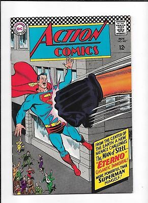 Action Comics #343 ==> Vf Superman & Eterno Classic Punch Cover Dc Comics 1966