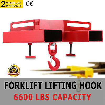 Forklift Lifting Hook 6600Lbs Mounted Adjustable Telehandler Jib Mobile Crane