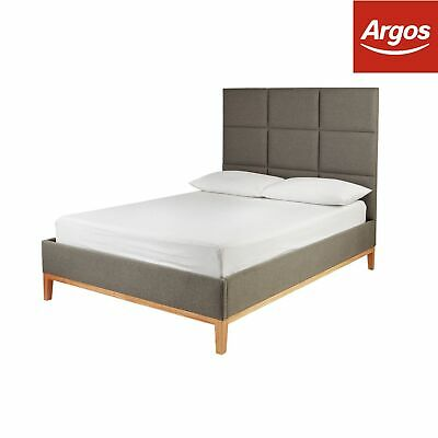 Argos Home Kenji Grey Bed Frame - Choice of Double / King