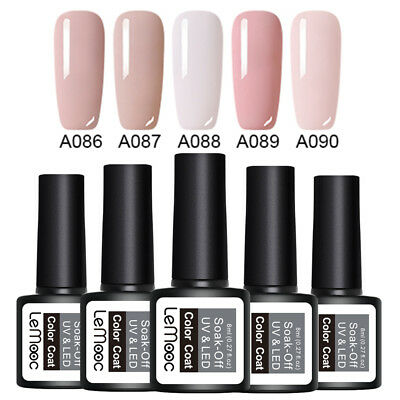 LEMOOC 5 Bottles 8ml Nagel Gellack Soak off Nail Art UV Gel Polish  Kit