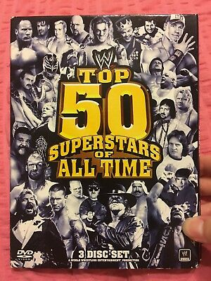 WWE: The Top 50 Superstars of All Time (DVD, 2010, 3-Disc Set)