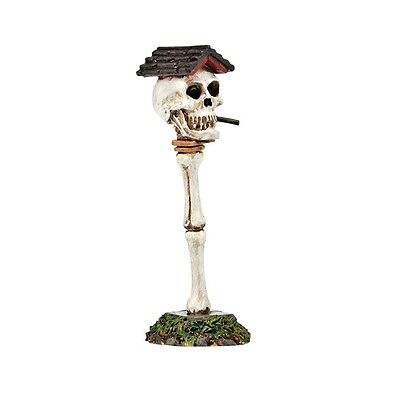 Boneyard Birdhouse Dept 56 Halloween Village Accessories 4038902 snow New