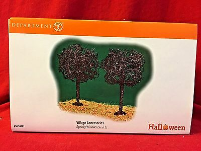 Dept 56 Snow Village Accessories Spooky Willows (set of 2) 53087 Halloween